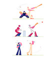 set golf and baseball players isolated on white vector image vector image