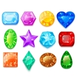 Set Of Colorful Gems vector image vector image