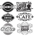 set of templates in different retro styles vector image vector image
