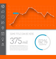simple infographic dashboard template vector image vector image