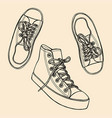 sneakers and ink spots vector image
