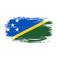 solomon islands flag brush grunge background vector image vector image