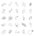 Spy icons set isometric 3d style vector image vector image