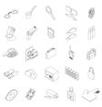 Spy icons set isometric 3d style vector image