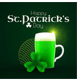 st patrick s day poster template with shamrock vector image vector image