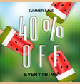 summer sale banner with ice cream vector image