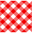 Tablecloth Pattern Red vector image vector image