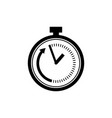 time limit icon in flat style speed symbol vector image vector image