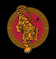 traditional chinese tiger vector image vector image