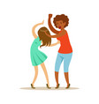 two furious women characters fighting and vector image vector image
