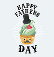 vintage father s day cupcake poster design vector image