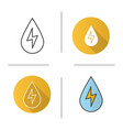 water energy icon vector image vector image
