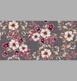 watercolor vintage flower seamless pattern vector image
