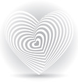 white heart on a white background Optical of 3D vector image vector image