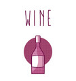 wine bottle round icon vector image vector image