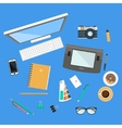 Workspace Top View vector image vector image