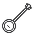 banjo line icon music and instrument vector image