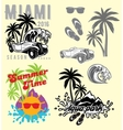 set of emblems and design elements for templates vector image