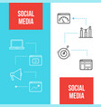 social media marketing web banners templates vector image