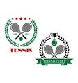 Tennis game icons and emblems vector image