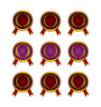 Set of different golden medals vector image