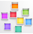 3d isolated empty colorful bookshelf vector image
