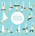 aerial yoga set with young woman vector image vector image