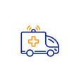 ambulance car line icon medical emergency vector image