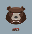 Angry bear head mascot Bear head logo for Hockey vector image vector image
