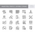 application development line icons vector image