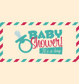 baby shower invite greeting card vector image vector image