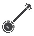 banjo glyph icon music and instrument vector image vector image