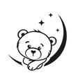 Bear dreamer vector image