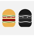 burger icon in black and color variants vector image vector image