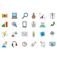 Business communication colorful icons set vector image vector image