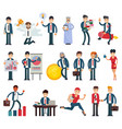 business people businessmen character vector image