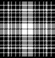 check black white plaid seamless pattern vector image