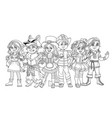 children in different carnival costumes vector image vector image