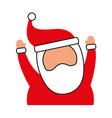 christmas happy santa claus arms up cheerful vector image