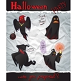 Collection Happy Halloween Cartoon Ghosts