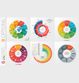 Collection of 6 circle chart templates 8