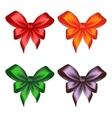 Colored ribbon bows vector image