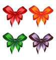 Colored ribbon bows vector image vector image