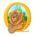 cowardly lion vector image vector image
