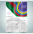 Dimensional colored geometric 3d line brochure