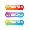 download button low poly vector image