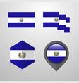 el salvador flag design set vector image