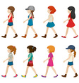 Faceless female teenagers vector image vector image