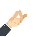 finger snap hand gesture attract attention flat vector image