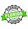 florida round ribbon seal vector image vector image